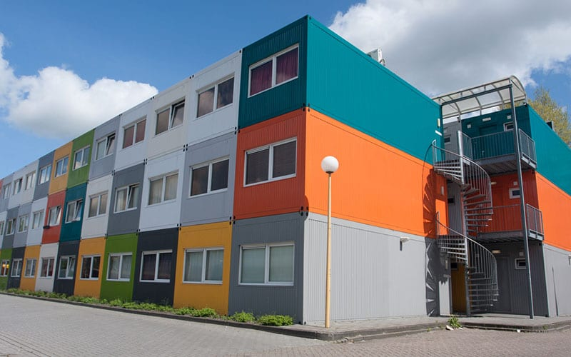 containers in affordable housing