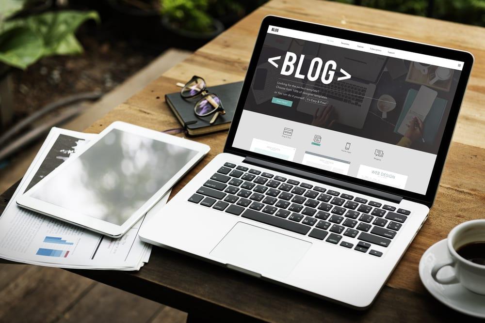 Portfolio promotion via a blog